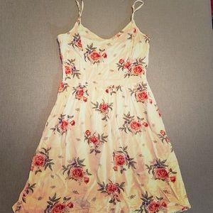 H&M Dress Floral White & Pink